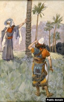 Дэвора пад пальмай. Ілюстрацыя Джэймса Цісо