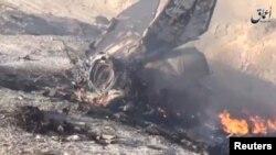 Рештки літака урядових сил Сирії, збитого в провінції Дейр-аз-Зор, липень 2016 року