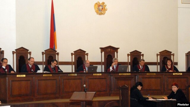 Armenia - The Constitutional Court holds a hearing in Yerevan.
