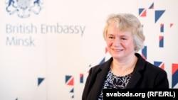 U.K. Ambassador to Belarus Jacqueline Perkins (file photo)