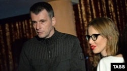 Предприниматель Михаил Прохоров и телеведущая Ксения Собчак (архивное фото)