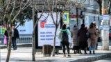 Ситилайты в Симферополе, агитирующие людей прийти на общероссийское голосование о принятии поправок в конституцию России