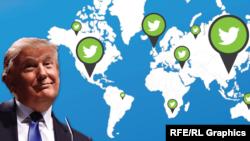 Donald Tramp (@realDonaldTrump) Twitter sosial ulgamynda iň köp yzarlanýan ikinji liderdir.