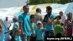 День крымскотатарского флага в Симферополе, 26 июня 2014 года