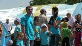 Қырым татарлары туы күні. Симферополь, 26 маусым 2014 жыл.