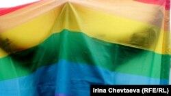 На митинге ЛГБТ-активистов в Москве