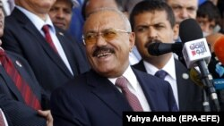 Ali Abdullah Saleh. Foto bu ilin avqustunda çəkilib