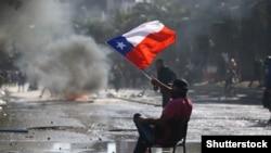 شیلی؛ صحنهای از اعتراضات به نظام اقتصادی کشور