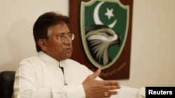 Former Pakistani President Pervez Musharraf says he plans to return to Karachi to take part in the May elections.