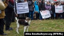 Акция протеста в Евпатории. Иллюстрационное фото