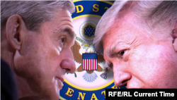Роберт Мюллер и Дональд Трамп (фотомонтаж)