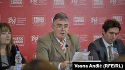 Duško Pejović, predsednik Državne revizorske institucije (DRI) na predstavljanju izvještaja 18. decembar 2018.