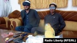 Ду маргталаби номуваффақ, ки дар вилояти Кунори Афғонистон дастгир шудаанд(4.4.2012)