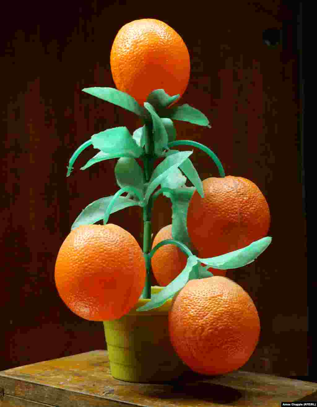 "A plastic orange tree. Mihaita told RFE/RL that it's impossible to say what his favorite object is. ""It's like asking a child if they like Mum or Dad better."""