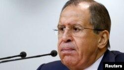 Керівник МЗС Росії Сергій Лавров на прес-конференції у Москві 26 січня 2016 року