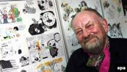 Знаменитый датский карикатурист Курт Вестергорд, скрывающийся от исламистов по сей день