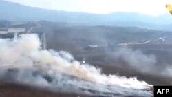 Скриншот с видеокадров телеканала al-Manar TV с изображением якобы поражённой израильской цели. 1 сентября 2019