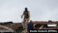 Kraljevo, popravak krova, 8. novembar 2010.