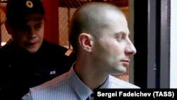 Denis Chuprikov attends a court hearing in Moscow on July 16.