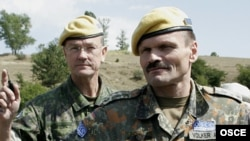 OSCE military monitors on patrol in Georgia