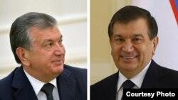 Шавкат Мирзияев до (слева) и после (справа) окрашивания волос. Коллаж: Ц-1.