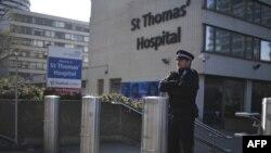 نمایی از بیمارستان سن توماس لندن که بوریس جانسون در بخش مراقبتهای ویژه آن بستری شده است