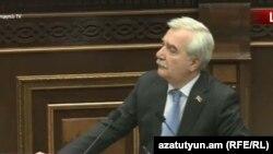 Кандидат на пост председателя комиссии по вопросам обороны и безопасности, депутат фракции «Мой Шаг» Андраник Кочарян, Ереван, 17 января 2019 г.
