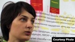 """Ресейлік """"Новая газета"""" басылымының тілшісі Елена Костюченко."""