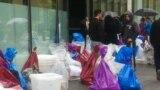 Birački materijal dan nakon izbora na ulici u Tuzli