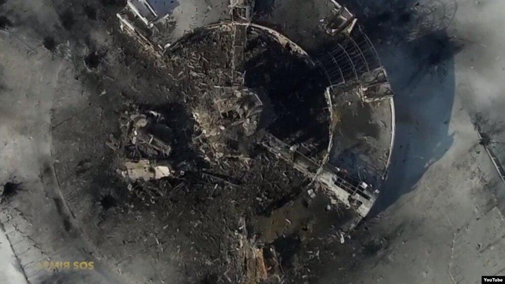 Донецький аеропорт. Повітряна зйомка. 15 січня 2015 року