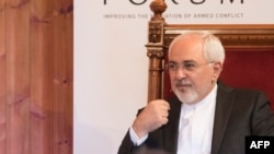 Iranian Foreign Minister Javad Zarif at the Oslo Forum,.