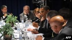 U.S. President Barack Obama takes part in a multilateral meeting in Copenhagen on December 18.