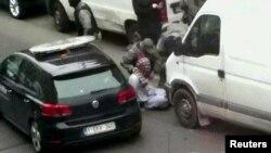 Момент ареста Абдеслама 18 марта в Брюсселе