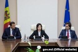 Maia Sandu, Andrei Năstase și Nicu Popescu la întâlnirea cu diplomații străini
