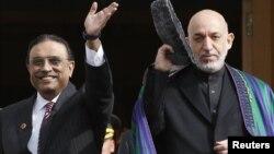 Асіф Алі Зардарі (л) і Хамід Карзай (п), архівне фото