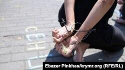 Перформанс в Киеве, 13 июля 2019 год