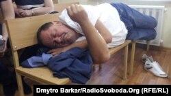 Петро Мельник на засіданні суду, 30 липня 2013 року