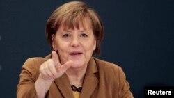 Канцлер Германии Ангела Меркель. 11 апреля 2014 года.