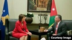 Presidentja Atifete Jahjaga dhe Mbreti i Jordanisë.