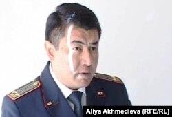Глава финансовой полиции по Алматинской области Уалихан Дильдабаев.