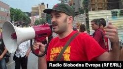 Протест против полициска бруталност во Скопје.