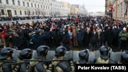 Акция протеста в Санкт-Петербурге 21 апреля