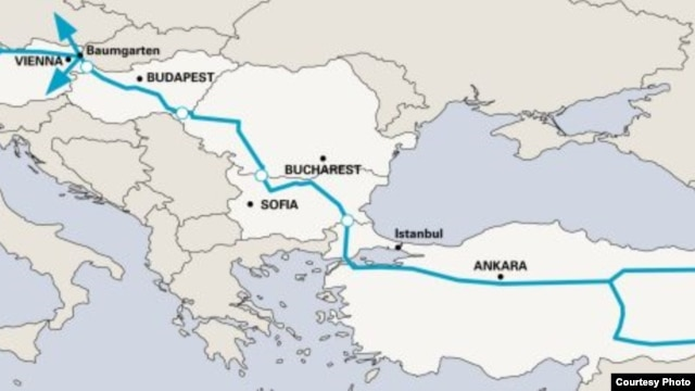 A project map from the Nabucco-pipiline.com website
