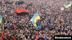 Евромайдан, Киев, февраль 2014 года.