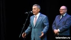 Рөстәм Миңнеханов (c) Үзбәкстан татарлары белән очрашуда