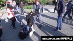 На улицах Еревана 17 апреля 2018 года