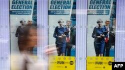 Предвыборные плакаты в Лондоне