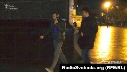 Бізнесмен Леонід Крючков біля Адміністрації президента