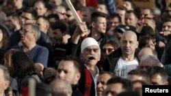 Protestë kundër qeverisë në Prishtinë për çështjen e demarkacionit - foto arkivi