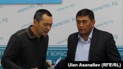 Өмүрбек Бабанов менен Камчыбек Ташиев.